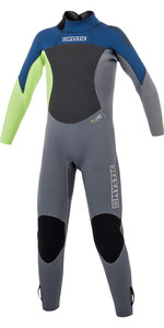 2019 Mystic Junior Star 3/2mm Wetsuit Met Back Zip Navy 180058