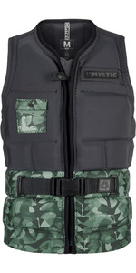 Mystic Shred Impact Vest Front Zip Grøn Allover 180146