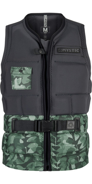2018 Mystic Shred Impact Gilet Avant Zip VERT ALLOVER 180146