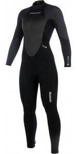 2019 Mystic Women Star 5 / 4mm Back Zip Wetsuit PRETO / CINZENTO 180029