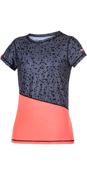 Mystic Ladies Diva manica corta Quick Dry Top CORAL 170322