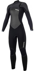 2019 Mystic Gem Dames 5/3mm Wetsuit Met Chest Zip Zwart 180021