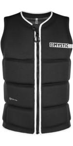 2020 Mystic Brand Front Zip Wake Impact Vest 200183 - Zwart