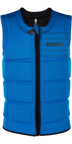 2019 Mystic Brand Front Zip Wake Impact Vest Blue 180153