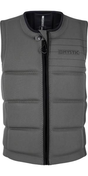 2019 Mystic Brand Front Zip Wake Impact Vest Grey 180153