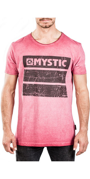 2018 Mystic Concrete Tee Red Dark 180048