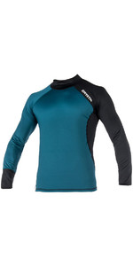 Mystic Crossfire Long Sleeve Rash Vest Teal 180110