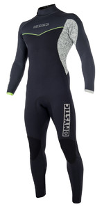 Mystic Drip 3/2mm GBS Back Zip Wetsuit BLACK / GREY 180015