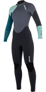 2018 Mystic Dutchess Womens 5/4 milímetros Voltar Zip Wetsuit Teal 180027 - 2ND