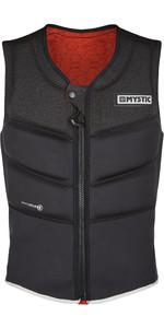 2021 Mystic Foil Front Zip Kite Impact Vest KFO - Zwart