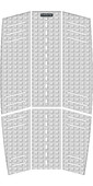 2021 Mystic Guard Kiteboard Mid + Front Deckpad White 190183