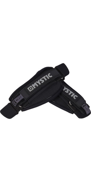 2019 Mystic Kite Footstrap Set Preto Assimétrico 190144