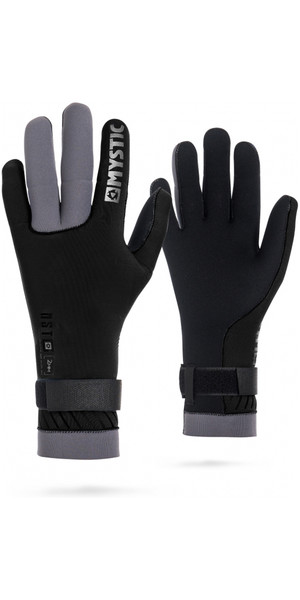 2018 Mystic 2mm Regular Kitesurfing Glove Black / Grey 170155