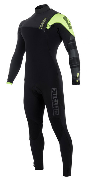 2018 Mystic Majestic 3 / 2mm Zip Free Wetsuit NERO / Lime 170260