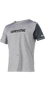 2018 Mystic Majestic S / S Loosefit Rash Vest Grey 180109