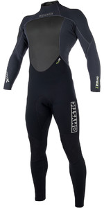 2019 Brand De Homens Mystic 3/2mm Back Zip Wetsuit Preto 180051