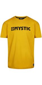 2021 Mystic Mænds Brand Tee 35105,190015 - Sennep