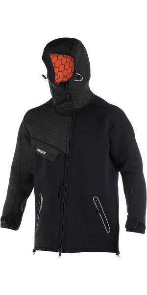 2019 Mystic Mens Len10 Ocean Neoprene Jacket Black / White 190164