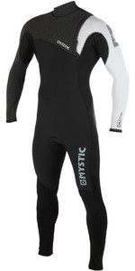 2019 Mystic Mens Majestic Len10 3/2mm Zip Free Wetsuit Black / White 190176