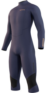 2021 Mystic Mens Marshall 4/3mm Long Arm Short Leg Wetsuit 210114 - Night Blue