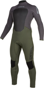 2021 Mystic Heren Star 4/3mm Wetsuit Met Back Zip 200016 - Grijsgroen