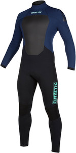 2020 Mystic Mens Star 4/3mm Back Zip Wetsuit 200016 - Navy / Grey