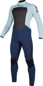 2019 Mystic Hommes Star 5/3mm Back Zip Combinaison 200015 - Navy / Gris