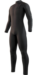 2021 Mystic Men's One 4/3mm Zip Free Wetsuit 210071 - Preto