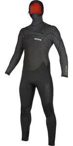 2019 Mystic Heren Voltt 6/4 4/3mm Wetsuit Met Capuchon En Chest Zip 20000 - Zwart