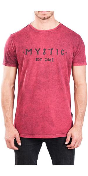 2018 Mystic Scarce Tee Rot Dunkel 180052