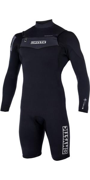 2018 Mystic Star 3/2mm Chest Zip long Arm Shorty Wetsuit Black 180136