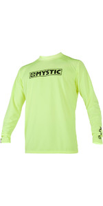 2020 Mystic Star Long Sleeve Loosefit Quick Dry Rash Vest Lime 180106