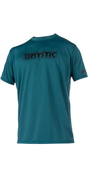 2018 Mystic Star S / S Loosefit Quick Dry Rash Vest Teal 180107