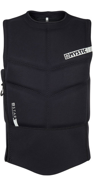 2019 Mystic Star Side Zip Kite Impact Weste Schwarz 180088