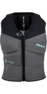 2019 Mystic Star Womens Front Zip Kite Impact Vest Black 180090