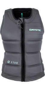 2019 Mystic Star Womens Front Zip Wake Impact Vest Black 180156