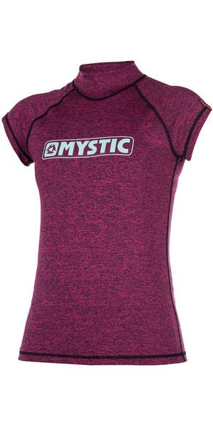 2018 Mystic Womens Star Short Sleeve Rash Vest Pink 170299
