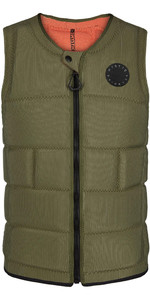 2020 Mystic The Dom Impact Vest Wake Front Zip Wdom - Modig Grøn