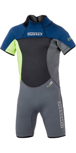 2021 Mystic Junior Star 3/2mm Back Zip Shorty Wetsuit Navy 180061