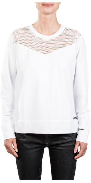 2018 Mystic Womens Blunt Sweat Blanc Cassé 180518