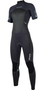 2019 Mystic Womens merk 3 / 2mm korte arm terug Zip Wetsuit zwart 180069