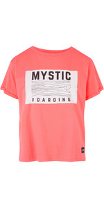 2019 Mystic Womens Charley Tee Faded Coral 190542