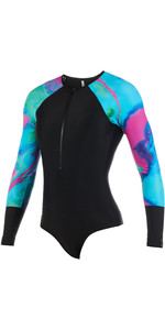 Mystic Womens Dazzled Long Sleeve Lycra Shorty Aurora 190100