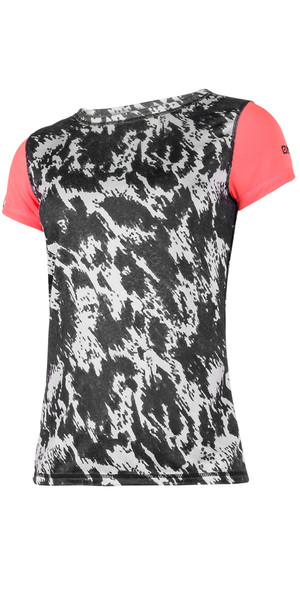 2018 Mystic Womens Dazzled S / S Quickdry Loose Fit Tee Grey 180143