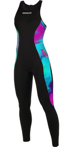 2019 Mystic Womens Diva 2mm Back Zip Lång John Wetsuit Aurora 190085