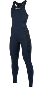 2019 Mystic Womens Diva 2mm Tillbaka Zip Long John Wetsuit Navy 190085