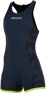 2019 Mystic Women's Diva 2mm Back Zip Kurz John Wetsuit Navy 190086
