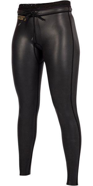 2019 Mystic Womens Diva Black Series 2 mm Pantalones de neopreno negro 180095