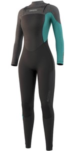 2021 Mystic Womens Diva 5/3mm Chest Zip Wetsuit 210075 - Black / Mint