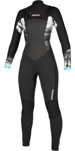 2020 Mystic Diva 4/3 Double Wetsuit Chest Zip 200020 - Preto
